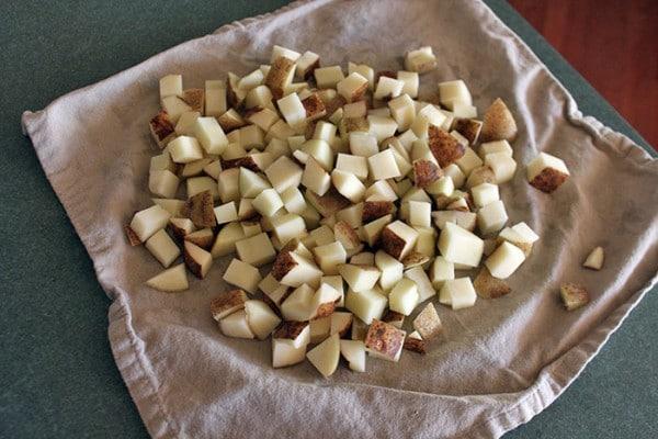 Ryan's Roasted Potatoes - Drying