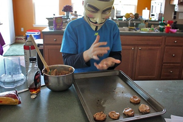 Guy Fawkes Making cookies - step 1