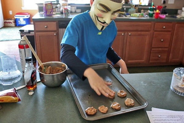 Guy Fawkes Making cookies - step 2