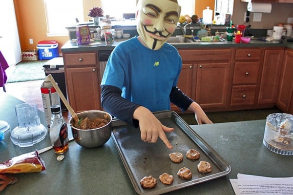 Guy Fawkes Making cookies - step 3