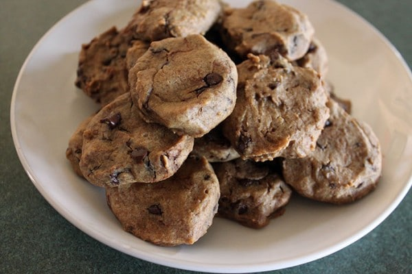 Plate of Chocolate Chip Cookie Dough Cookies