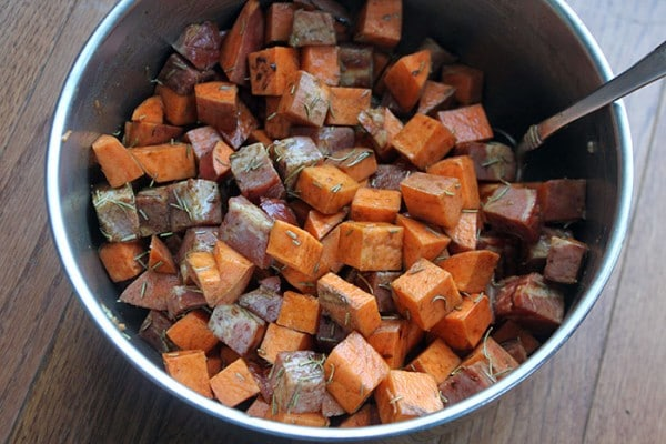 Roasted Sweet Potatoes and Ham - Step 1