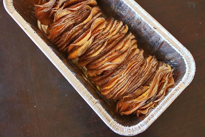 Sliced Sweet Potato Loaf After Cooking