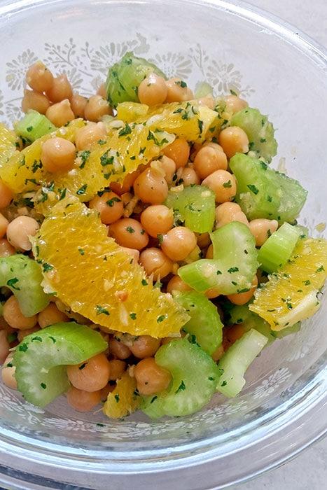 Chickpea, Orange and Celery Salad