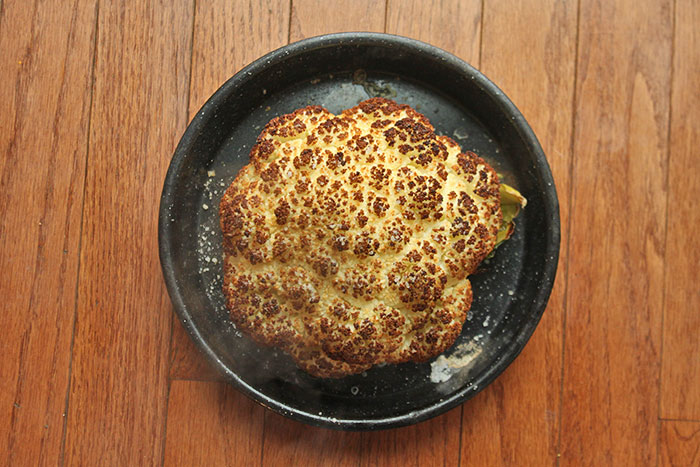 Roasted Cauliflower Head aka The Pufferfish Method - After Cooking
