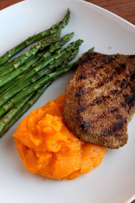 Pan-fried Pork Chops With Roasted Butternut Squash Puree