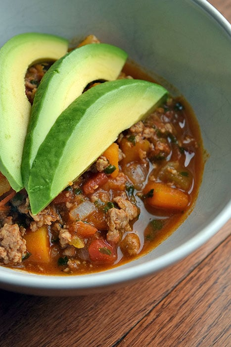 Ground Turkey and Butternut Squash Chili