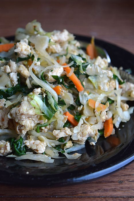 Asian-Inspired  Spicy Cabbage and Turkey