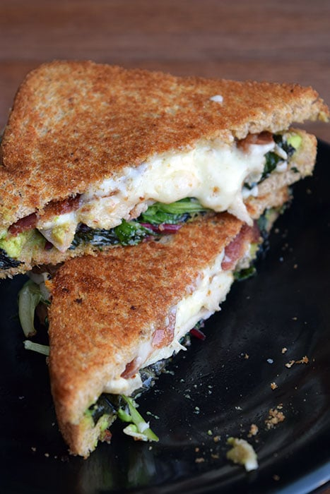 Another Grilled Cheese with Avocado and Chicken