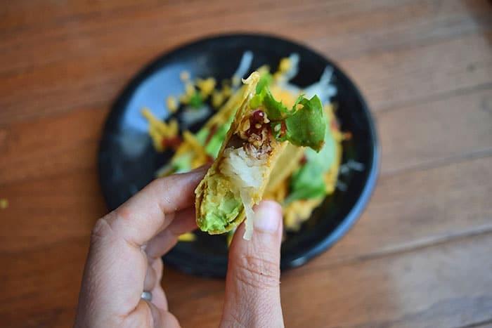 Leftover Chicken and Spaghetti Squash Tacos - Bite