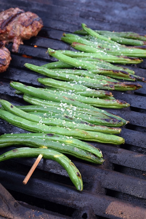 Simply Grilled Green Beans