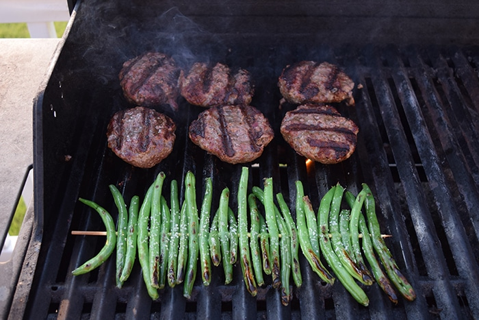 Simply Grilled Green Beans on Grill