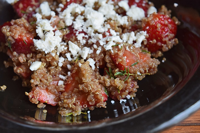 Quinoa with Strawberries
