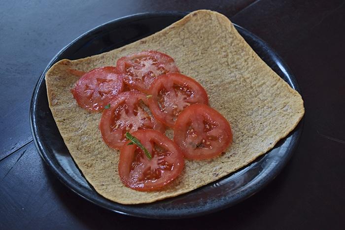 Spinach Feta Wrap - step 1