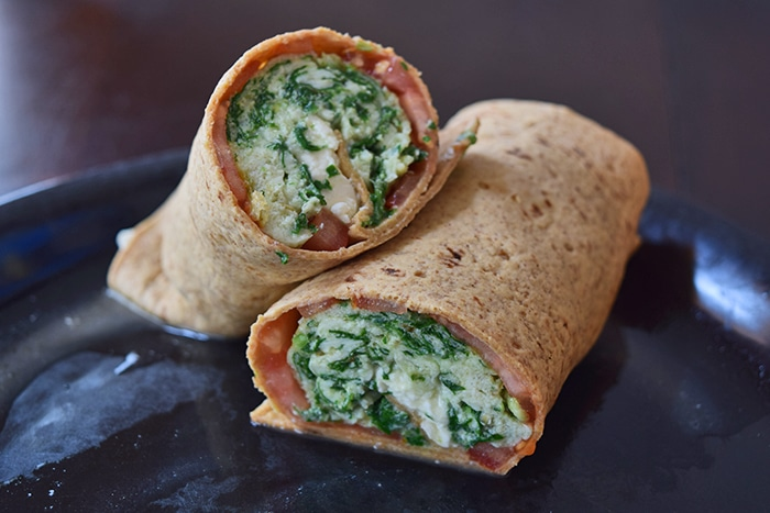 Spinach Feta Wraps - finished