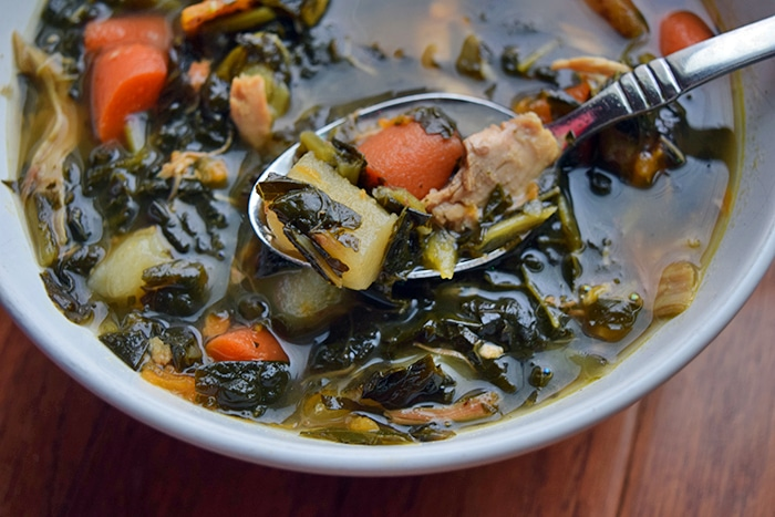 Kale Potato Chicken Soup and the #Whole30 Challenge Accepted!