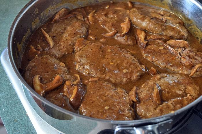 simmer salsbury steaks