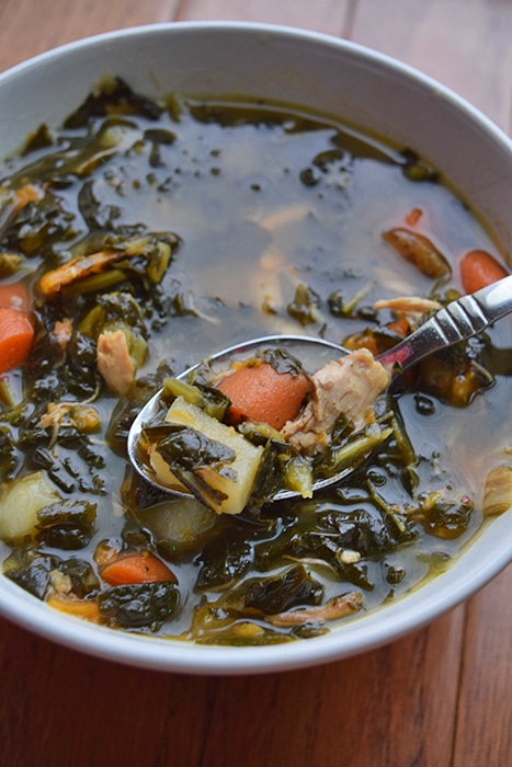Kale Potato Chicken Soup