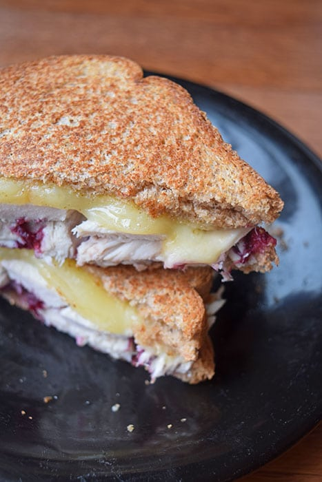 Grilled Cheese and Turkey with a Homemade Cranberry Sauce