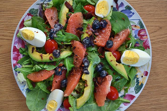 Breakfast Cobb Salad with Grapefruit, Avocado, and Egg