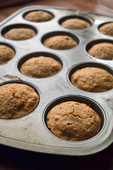 Coconut Milk Muffins with Banana and Clementines