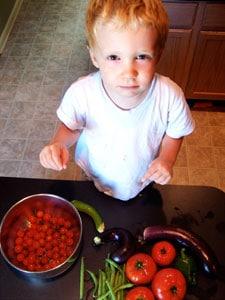 Ryan with veggies