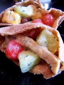 Sweet Chicken Salad on a pita