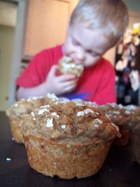 Ryan with muffins 2