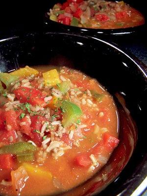 Sweet Stuffed Bell Pepper Soup