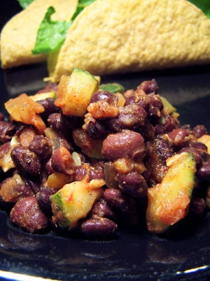 Spicy Black Beans and Zucchini