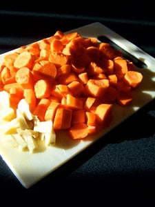 Carrots and ginger