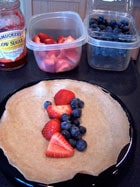 Simple Low Fat Whole Grain Crêpe with berries