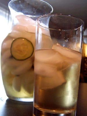 Cold Brewed Cucumber Tea