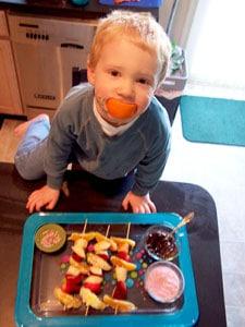 Ryan with the Fun Fruit Kabobs