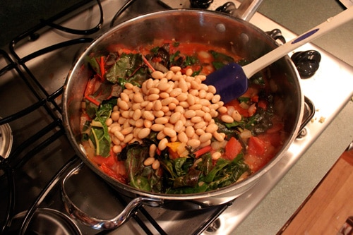 Whole Wheat Pasta with Rainbow Chard and White Beans - step 7