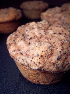 100% Whole Wheat Lemon Poppy Muffins – Take 1