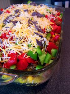 7 Layer Mexican Casserole Idea before