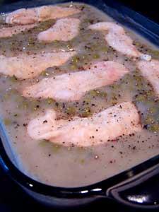 Mushroom, Pea & Chicken Casserole - before cooking