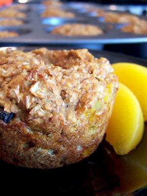 Spicy Peach Bran Muffins