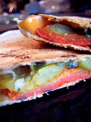 Grilled Mexican Pepper Tortilla Panini