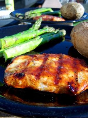 Sweet & Spicy Grilled Pork Chops