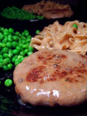 Fast Salisbury Steak with Noodles