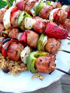 Sausage & Pepper Skewers tray 2