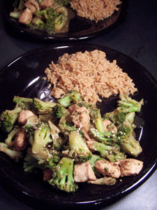 Sesame Chicken and Broccoli 2