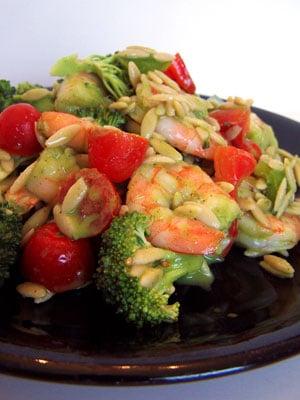 Cold Shrimp and Orzo Salad