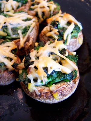 Simply Spinach Stuffed Mushrooms