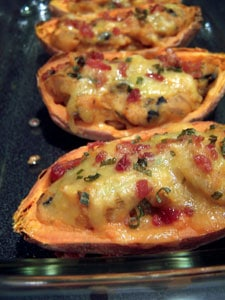 Simple Savory Stuffed Sweet Potatoes after