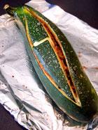 Giant Stuffed Zucchini after