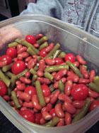 Sweet Bean and Tomato Salad prep 3