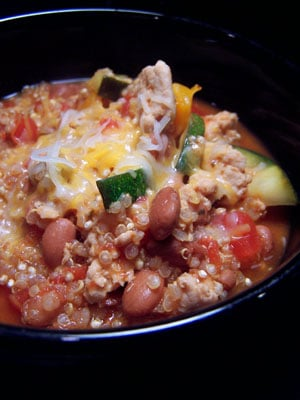 Quick Quinoa & Turkey Taco Stew